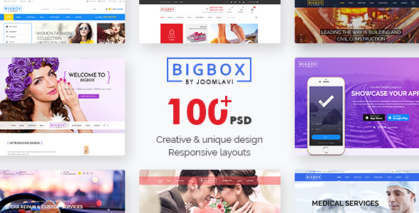 Bigbox- Multipurpose PSD Template - PSD Templates