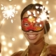 Beautiful Young Woman Wearing Carnival Mask - VideoHive Item for Sale