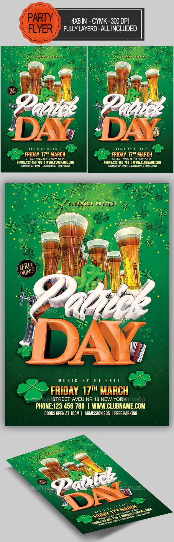 St Patricks Day Flyer - Holidays Events
