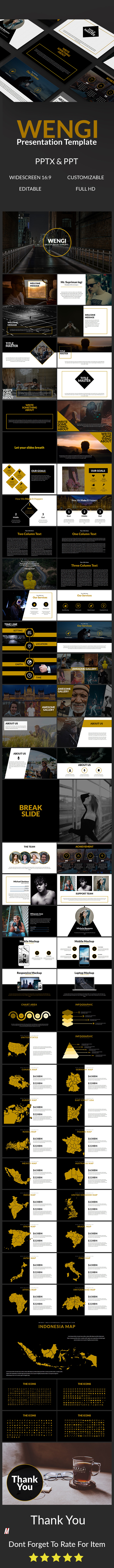 Wengi Multipurpose Template - Abstract PowerPoint Templates