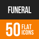 Funeral Flat Round Icons