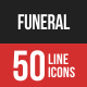 Funeral Filled Line Icons
