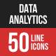 Data Analytics Filled Line Icons