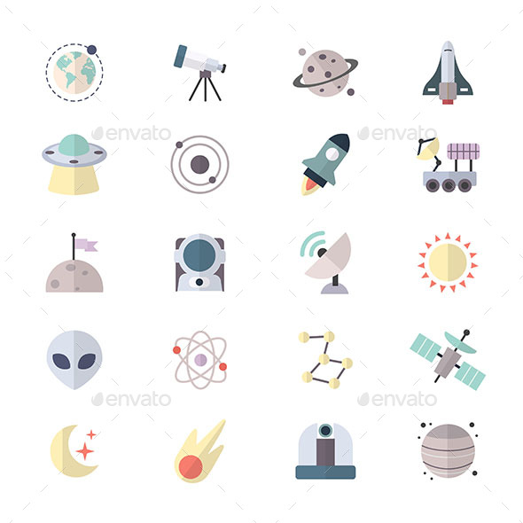 Planets In Space and Universe Galaxy Icons - Icons