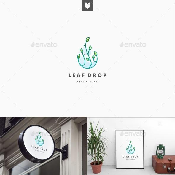 Leaf Drop Logo - Nature Logo Templates
