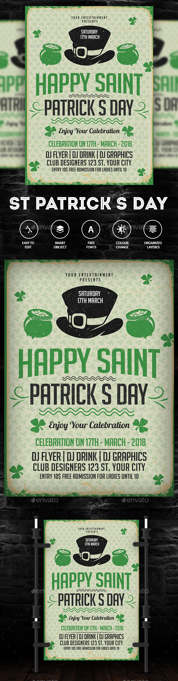 St. Patrick's Day Party - Events Flyers