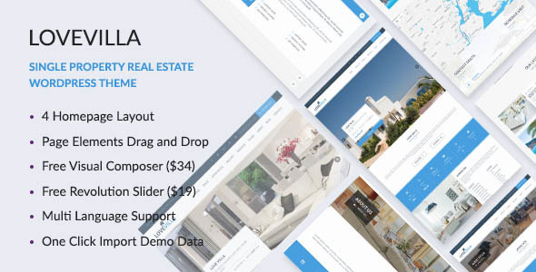 LoveVilla – Single Property Real Estate WordPress Theme