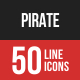 Pirate Filled Line Icons