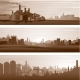 Vector Industrial Backgrounds, Urban Landscapes - GraphicRiver Item for Sale