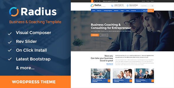 Radius – Training, Coaching, Consulting & Business WordPress Theme