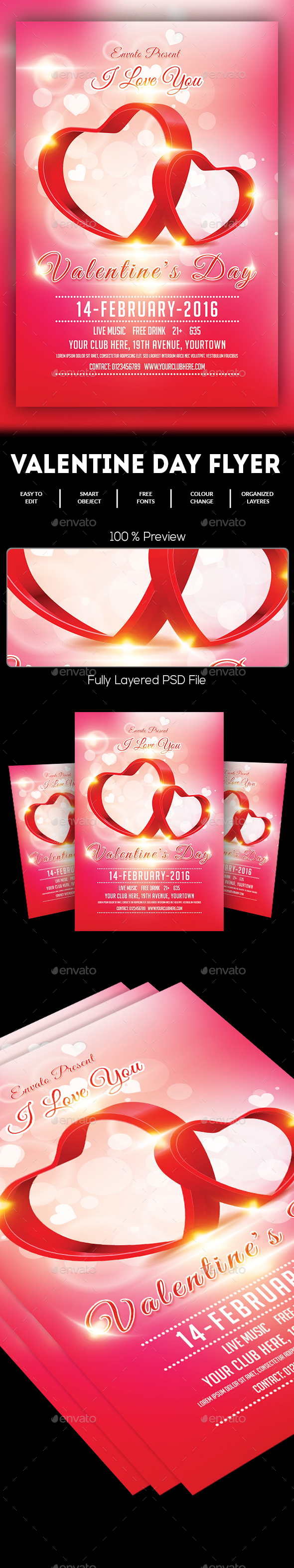 Valentines Day Flyer - Events Flyers