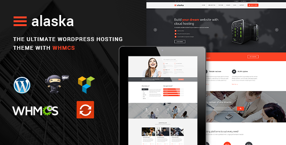 Alaska - SEO WHMCS Hosting, Shop & Business WordPress Theme - Hosting Technology