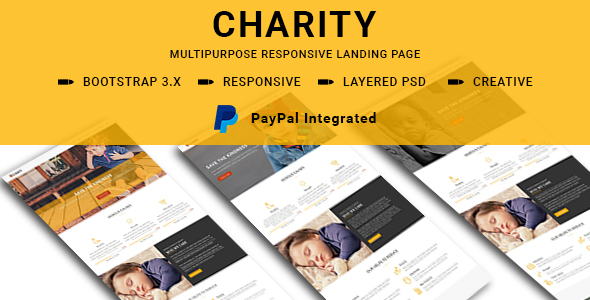 CHARITY – Multipurpose Responsive HTML Landing Pages