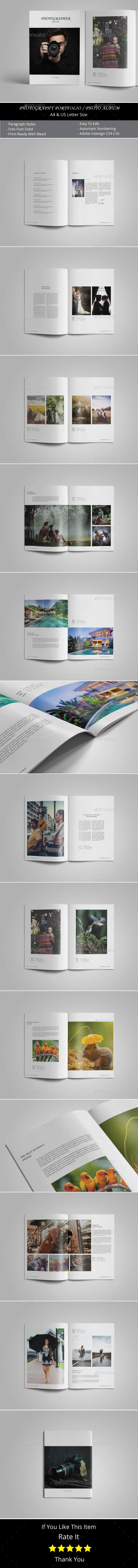 Photography Portfolio or Photo Album Template - Photo Albums Print Templates