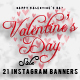 Valentine's Day Sale 21 Instagram Banners - GraphicRiver Item for Sale