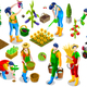 Isometric People Farmer 3D Icon Collection Vector Illustration - GraphicRiver Item for Sale