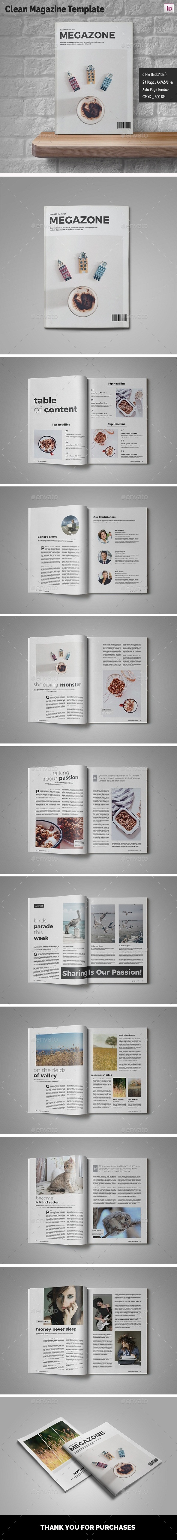 Clean Magazine Template - Magazines Print Templates