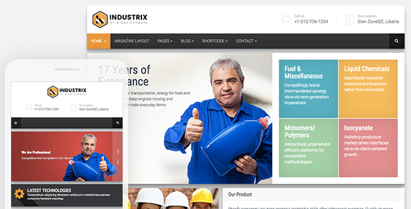 Industrix || Industrial HTML5 Bootstrap Responsive Website Template