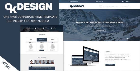Okdesign One Page Multipurpose Html Template By Ambidextrousbd
