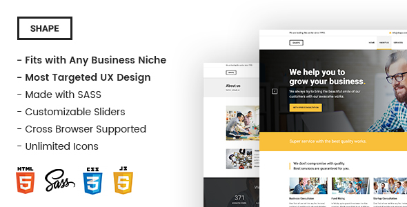 Shape – Ultimate Responsive Business Template for Any Niche