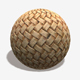 Artificial Wicker Seamless Texture