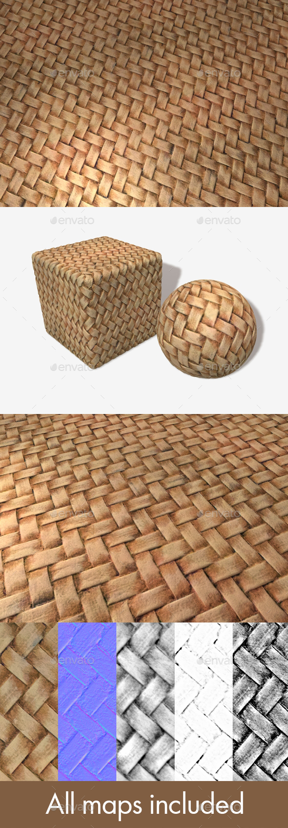 Artificial Wicker Seamless Texture - 3DOcean Item for Sale