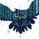 Snowy Winter Forest and Owl - GraphicRiver Item for Sale