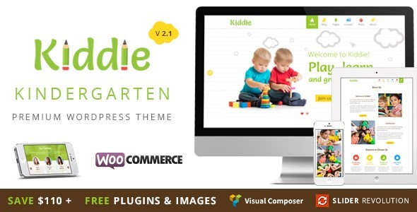 Kiddie – Kindergarten / Nursery / Preschool  WordPress Theme