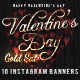 Valentin's Day Gold Sale 10 Instagram Banners - GraphicRiver Item for Sale