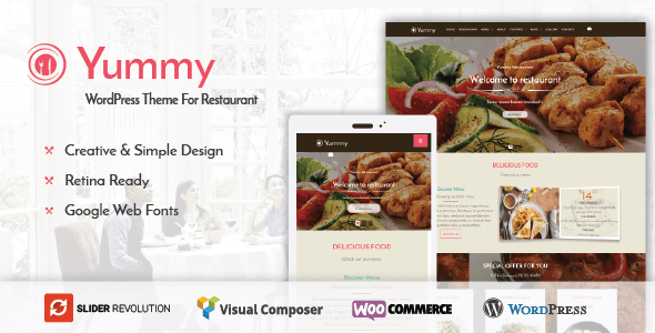 Yummy – Restaurant & Food Ordering WordPress Theme