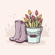 Gardening Time - GraphicRiver Item for Sale