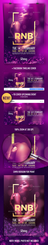 RNB Sounds Flyer - Clubs & Parties Events