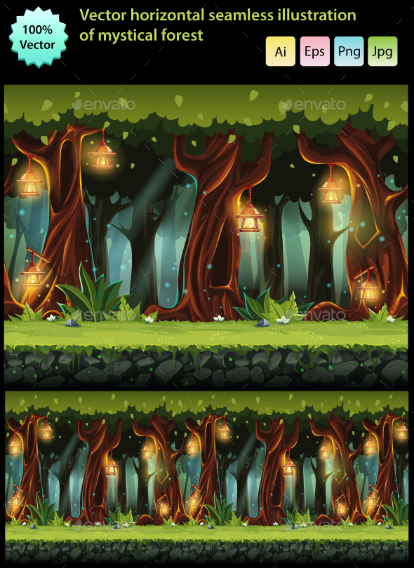 Fairy Forest - Backgrounds Game Assets