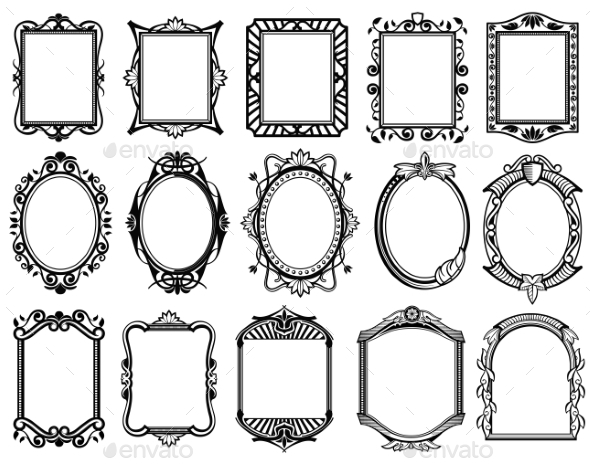 Vintage Frames - Borders Decorative