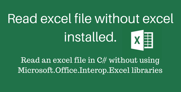 Read excel file without excel install - CodeCanyon Item for Sale