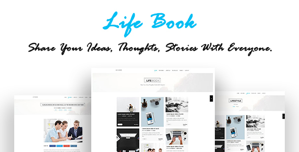 LifeBook – Creative Personal Blog – HTML Template
