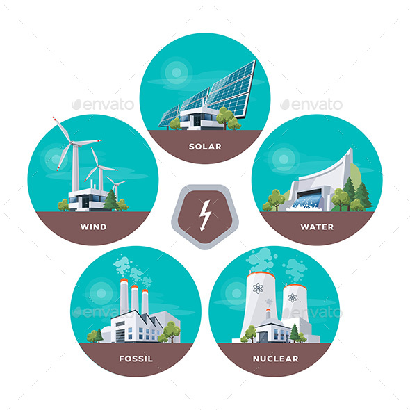 Electric Power Station Types - Miscellaneous Conceptual