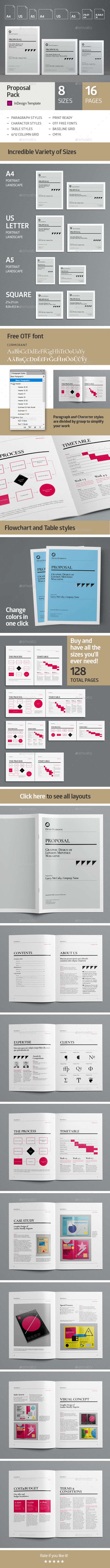 Multisize Proposal Pack - Proposals & Invoices Stationery
