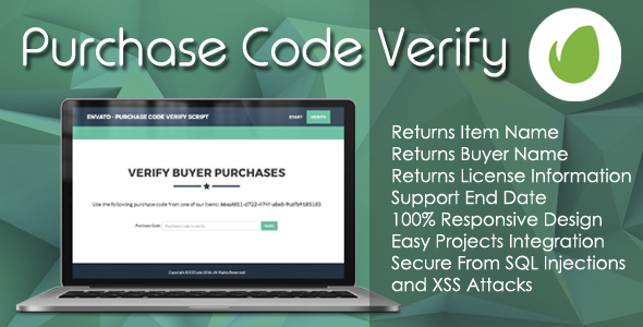 Envato - Purchase Code Verify PHP Script - CodeCanyon Item for Sale