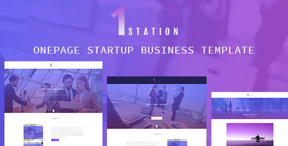 1STATION- One Page Startup Business Template - Creative PSD Templates