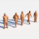 Low Poly Posed People 1