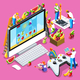 People Developing Game Isometric Vector Illustration - GraphicRiver Item for Sale