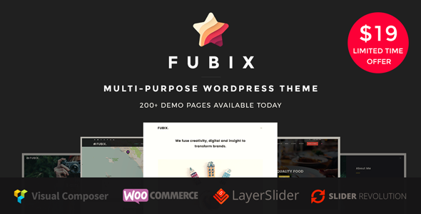 Fubix – Elegant Multi-Purpose WooCommerce Business WordPress Theme