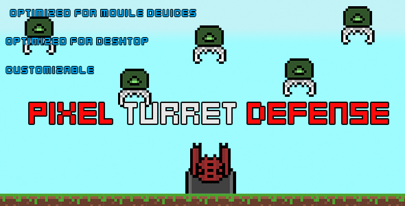 PixelTurretDefense(HTML5 Game + Construct 2 CAPX) - CodeCanyon Item for Sale