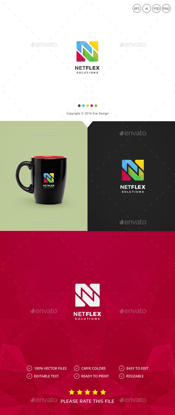 Letter N Logo By Exe Design