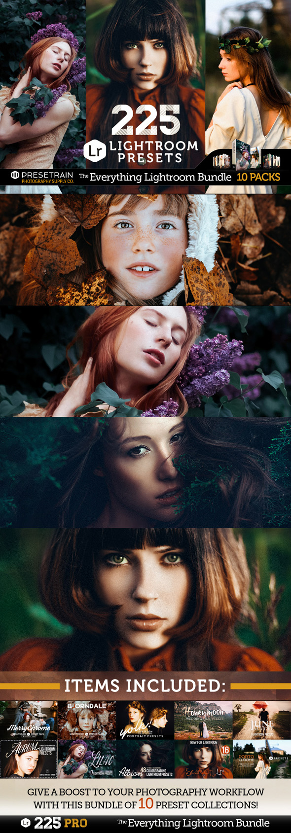 225 Pro Lightroom Presets Bundle - Lightroom Presets Add-ons