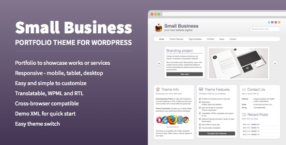 Free Download Small Business - Portfolio Theme for WordPress Nulled Latest Version