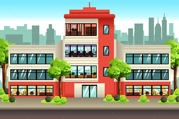 Business Offices Building - Buildings Objects