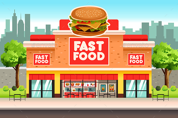 Fast Food Restaurant - Buildings Objects