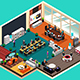 Business People Working in the Office in Isometric Style - GraphicRiver Item for Sale